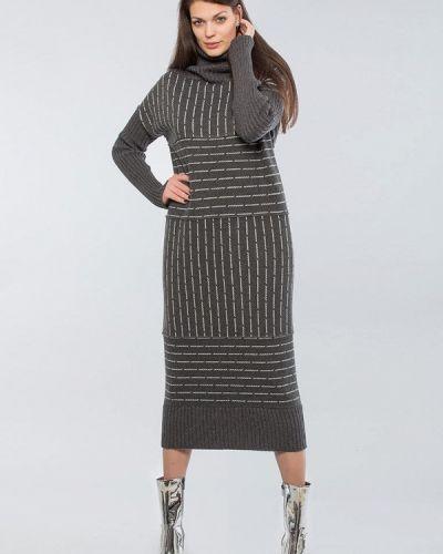 Платье - серое Maxa