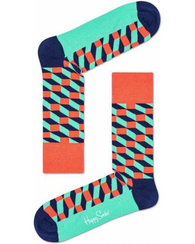 Носки с узором бирюзовый Happy Socks