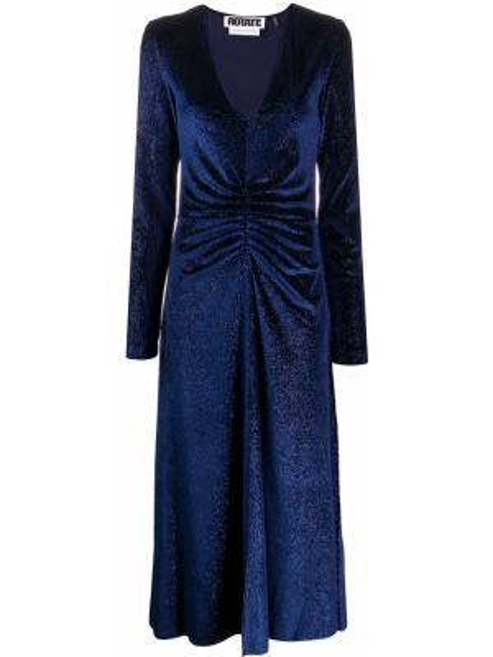Вечернее платье миди со складками Rotate