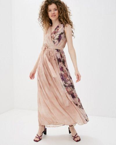 Прямое бежевое платье Rinascimento