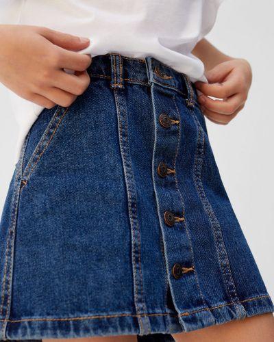 Джинсовая юбка маленький Mango Kids