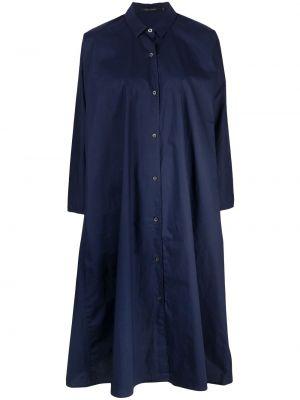 С рукавами синее платье-рубашка с воротником Sofie D'hoore