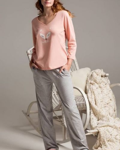 Пижама со штанами - серая Naviale
