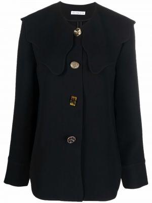 Длинная рубашка - черная Rejina Pyo