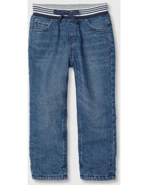 Прямые синие джинсы с подкладкой из футера Ostin