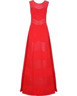 Шелковое платье макси - красное Antonino Valenti