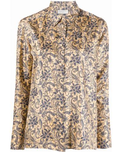 Koszula z jedwabiu - niebieska Sandro Paris