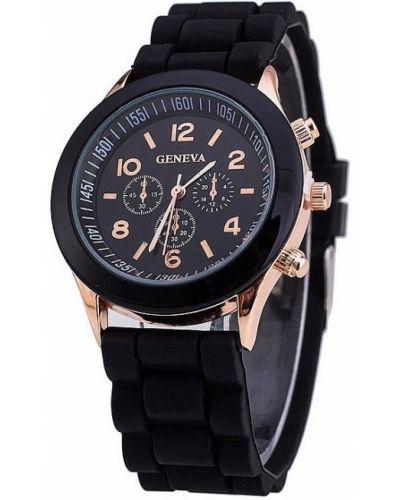Czarny sport zegarek sportowy Geneva