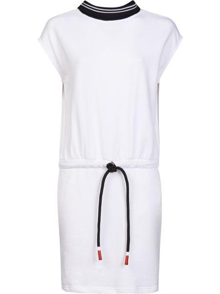 Хлопковое белое платье Frankie Morello