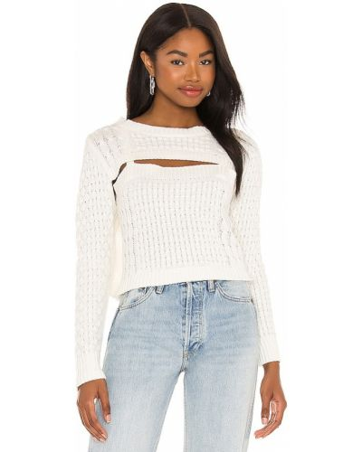 Beżowy z kaszmiru długi sweter z długimi rękawami Central Park West