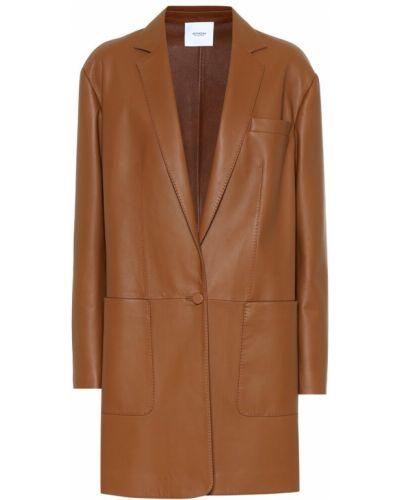 Коричневое пальто Agnona