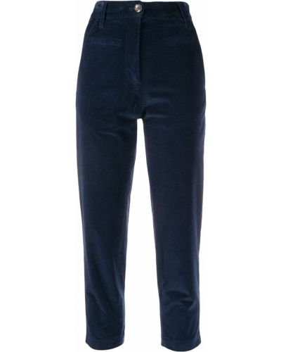 Укороченные брюки с завышенной талией с накладными карманами Tela