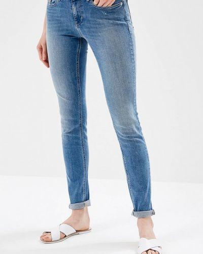 Голубые джинсы-скинни Calvin Klein Jeans