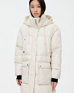 Утепленная куртка - белая Pull&bear