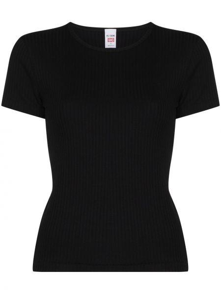 Czarny t-shirt krótki rękaw bawełniany Re/done
