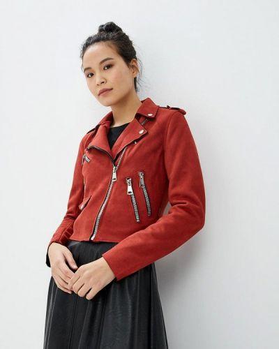 Кожаная куртка - красная Pink Woman
