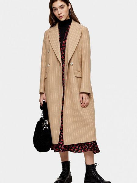 Пальто бежевое пальто Topshop