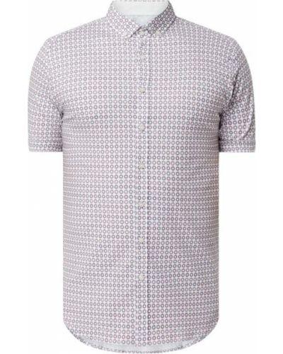 Biała koszula krótki rękaw bawełniana Desoto