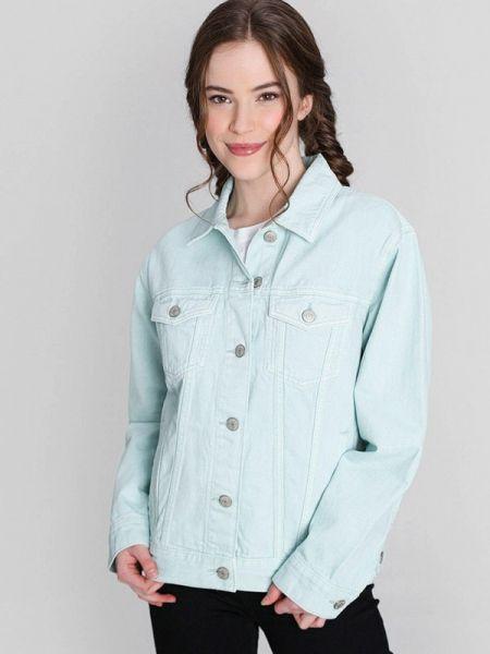 Джинсовая куртка весенняя бирюзовый Ostin