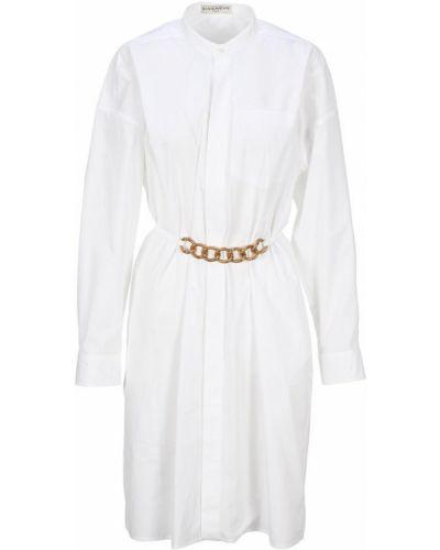 Sukienka koszulowa z paskiem bawełniana Givenchy