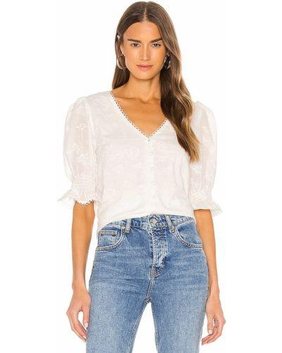 Блузка с вышивкой - белая Cupcakes And Cashmere