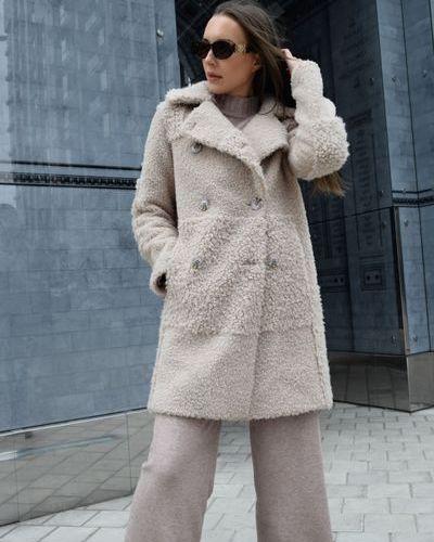 Шерстяное пальто - бежевое Torriss