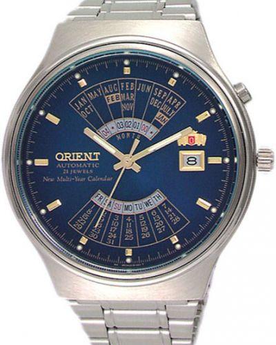 Часы механические водонепроницаемые с подсветкой Orient