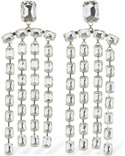 Kolczyki sztyfty z frędzlami srebrne Area
