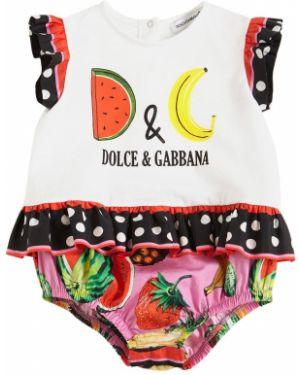 С рукавами боди с круглым вырезом круглое с вышивкой Dolce & Gabbana