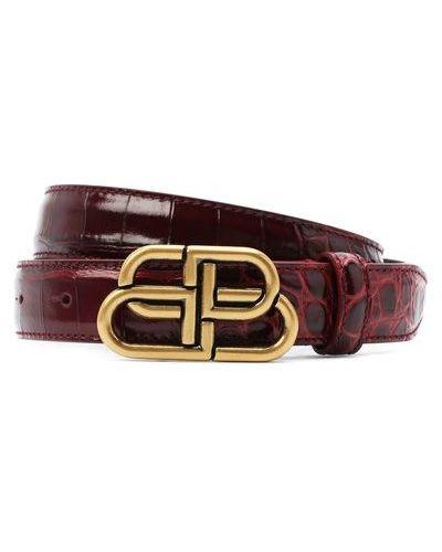 Кожаный красный ремень Balenciaga