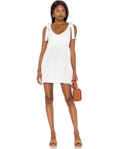 Льняное белое платье с карманами Show Me Your Mumu