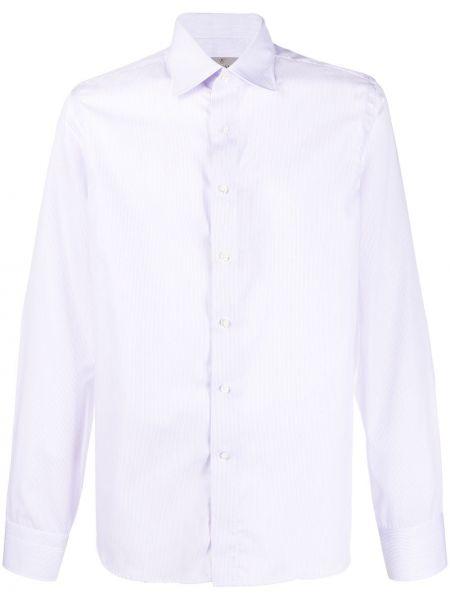 Koszula z długim rękawem fioletowy karmazynowy Canali