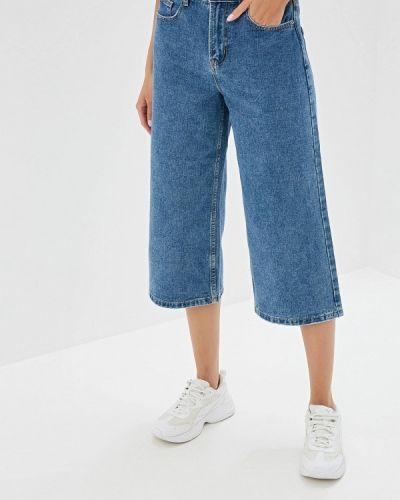 Широкие джинсы расклешенные синие Befree