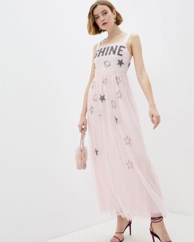 Розовое вечернее платье Trussardi