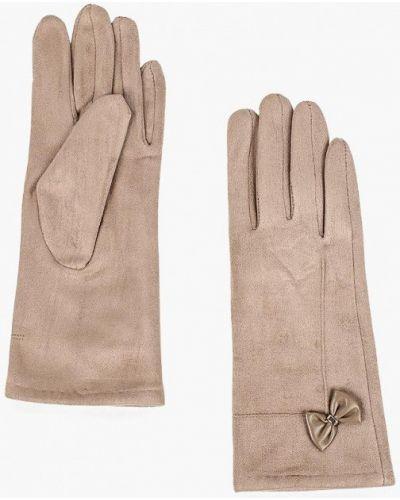 Бежевые перчатки текстильные Keddo