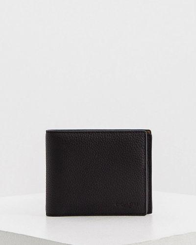 Черный кожаный кошелек Coach