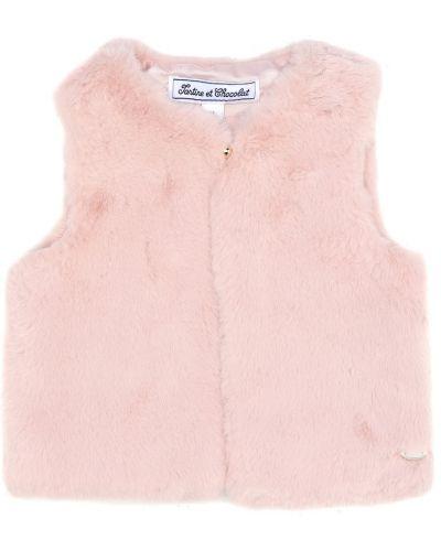 Розовая жилетка из искусственного меха Tartine Et Chocolat