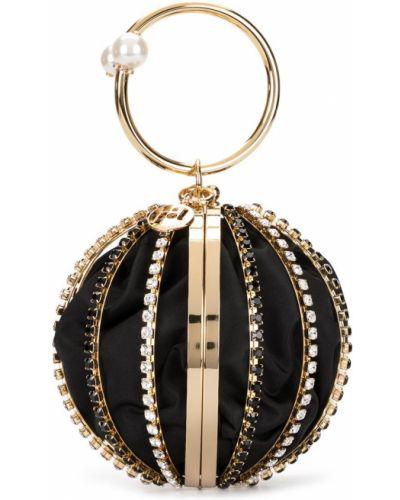 Czarna złota kopertówka perły Rosantica
