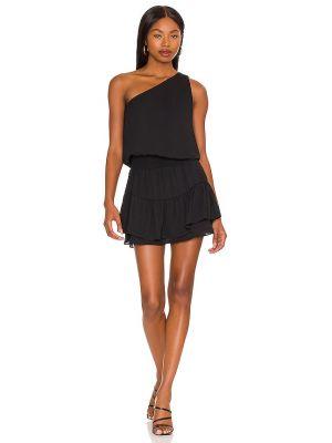 Черное платье на одно плечо с подкладкой Krisa