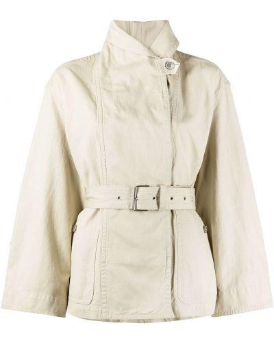 Хлопковая куртка с поясом с воротником Isabel Marant étoile