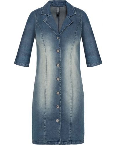 Синее джинсовое платье Bonprix
