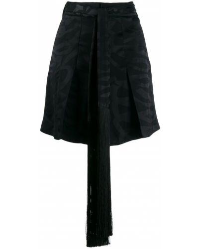 Однобортные черные шорты с карманами Neil Barrett