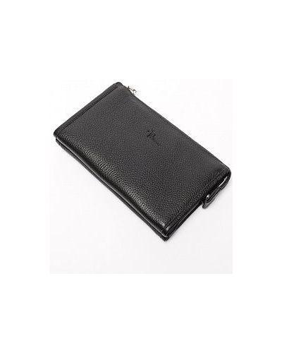 Черный кожаный кошелек Pellecon