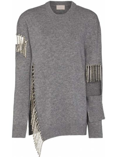 Sweter z frędzlami wełniany Christopher Kane