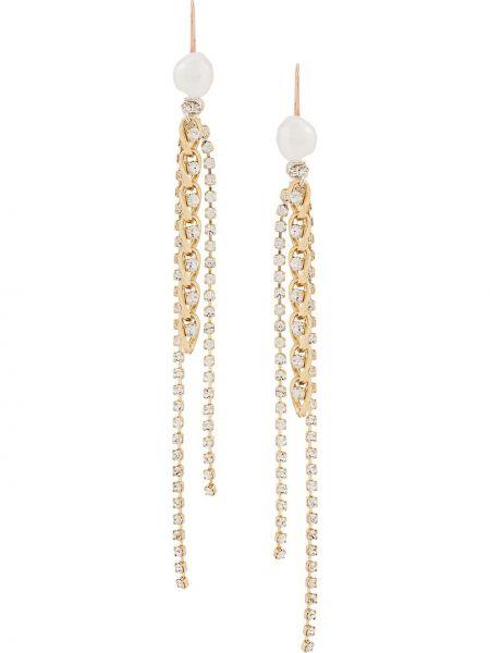 Złote kolczyki perły Wald Berlin