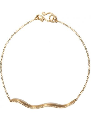 Żółta złota bransoletka ze złota z diamentem Sophie Bille Brahe