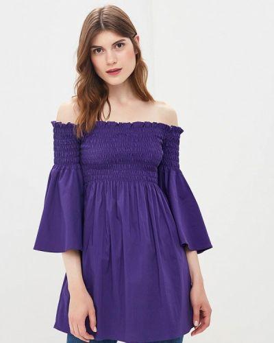 Фиолетовая блузка с открытыми плечами Imperial