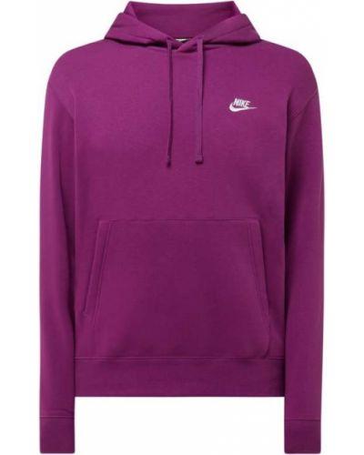 Fioletowa bluza z kapturem bawełniana Nike