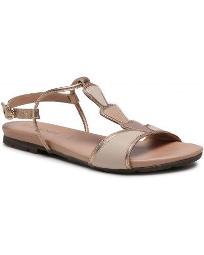 Beżowe sandały skorzane Lasocki