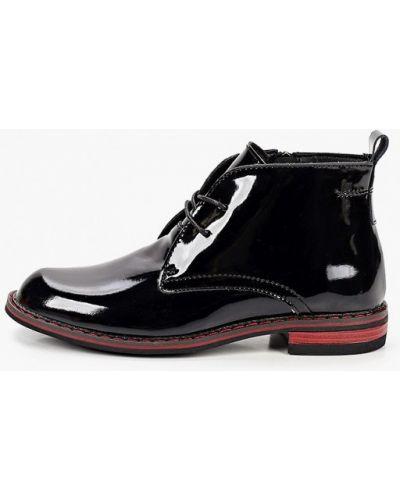 Черные лаковые кожаные ботинки O-live Naturalle